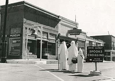 Little Ghosts in costumes. Photo courtesy of the Jerome Historical Society.