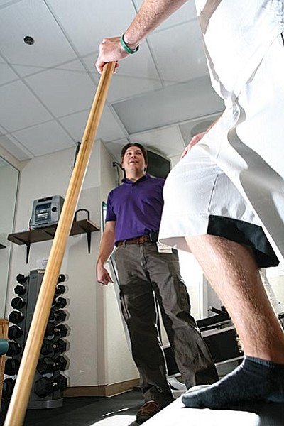 The skilled team of therapists helps stroke victims restore and maintain function to the highest possible level.