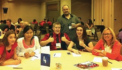 Courtesy photo<br> The Cottonwood Youth Advisory  Commission at the League of Arizona Cities and Towns Convention.
