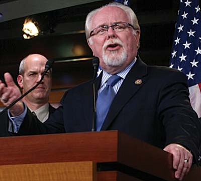 Rep. Ron Barber, D-Tucson, is one of two members of the state's congressional delegation who has pledged to donate his salary to charity for as long at a government shutdown lasts. (Cronkite News Service photo by Matthew Standerfer)
