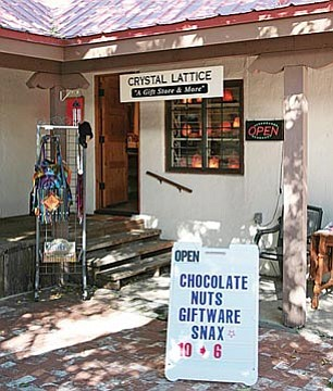 Diane Martin recently opened Crystal Lattice across from Wingfield Plaza. Martin says that Crystal Lattice is a place to buy nice giftware at affordable prices - and good chocolates, too. VVN/Bill Helm