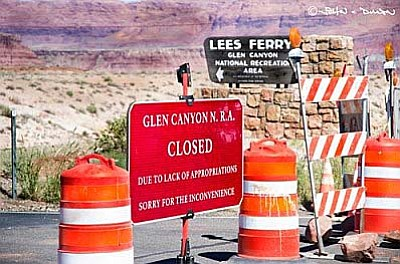 Closing the Grand Canyon during the government shutdown cost the state about $1.2 million a day in lost tourist revenues by one estimate, part of the $2.7 million a day the state lost from having all national parks closed. (Photo by John Dille/Grand Canyon River Outfitters Association)
