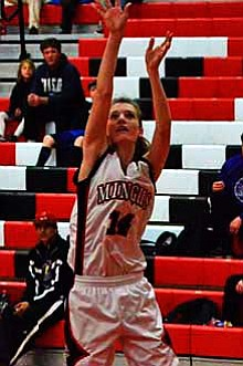 Kylie Streck throws up a three during a recent game. VVN/Travis Guy