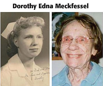 Dorothy Edna Meckfessel received a three-year registered nurse's diploma from the Evangelical Deaconess Hospital School of Nursing in St. Louis, Missouri on Sept. 7, 1950. She was accepted and attended the University of Missouri Medical School in 1956, a feat unheard of for a female in the 1950s.