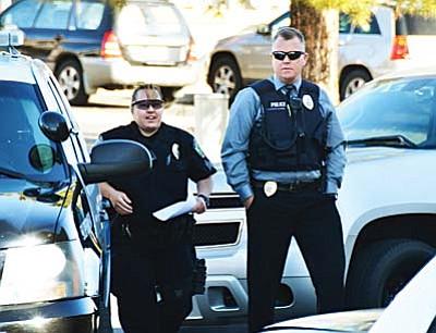 Detective Tod Moore and Sgt. Monica Kuhlt. VVN/Jon Pelletier