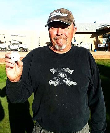 Randy Berzel had his first hole in one on Feb. 11th at the Coyote Trails Golf Course. He aced the ninth hole using a pitching wedge.  Men's club witnesses were Wally Wilburn, Mike Hasbrouck, and Smokey Mack.  Congratulations Randy!