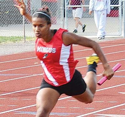 Senior Justine Taylor remained undefeated this year at 400 meters winning the one-lap race in 61.31 seconds to win by more than 3 seconds. VVN/Jon Pelletier