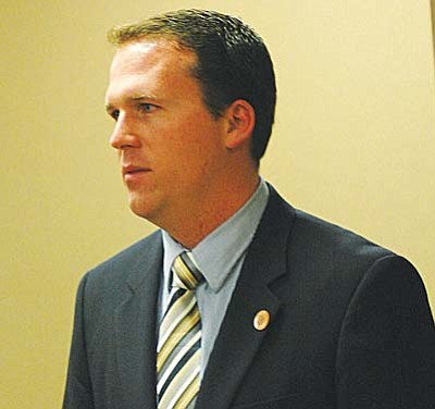 Rep. Justin Olson, R-Mesa, wants to adjust state income tax brackets to be sure Arizonans don't pay more to the government simply because of inflation.  (Capitol Media Services file photo by Howard Fischer)