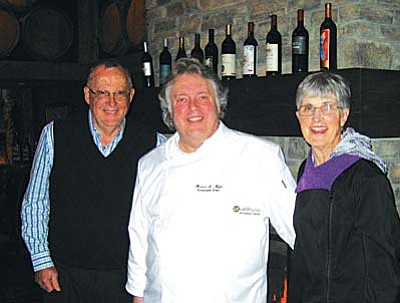 Jeff and Suzie visit with Executive Chef Mercer Mohr