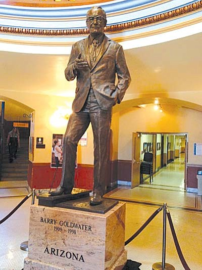 The statue of Barry Goldwater was created by Arizona artist Deborah Copenhaver-Fellows.