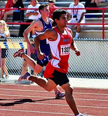 Juan Wells runs a race while still a student at Mingus Union. VVN/Sean Morris