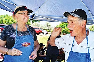 Annual Cornville Chili Cook-Off<br /><br /><!-- 1upcrlf2 -->June 7<br /><br /><!-- 1upcrlf2 -->The Cornville Community Association presents the sixth annual Chili Cook-Off at Windmill Park from 10 a.m. to 2 p.m. Prepare your special chili. Watch the preparation. Taste the chili and vote for your favorite. The competition is sanctioned by the Chili Appreciation Society International Yavapai Chili Society. Proceeds benefit Cornville Community Association<br /><br /><!-- 1upcrlf2 -->Cooks: Pre-registration required contact Jerry at 623-388-9748 or alchemistchili@gmail.com. $10 entry fee Red Chili Chefs only. <br /><br /><!-- 1upcrlf2 -->No fee for preparing People's Choice chili. $3 for tasting cup and spoon to taste All the chili.<br /><br /><!-- 1upcrlf2 -->For additional event info Contact Jim Lyons at 317-408-7851 or e-mail thejbbeach@yahoo.com.