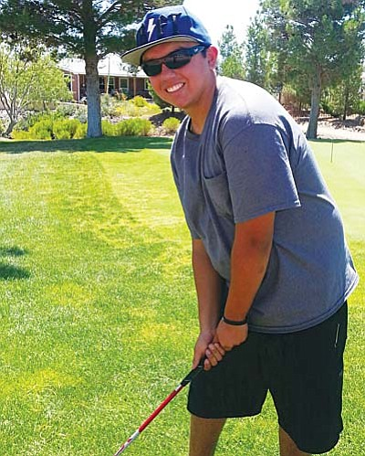 Austin Garcia of Camp Verde recorded his first Hole in One on July 2 while golfing in the annual Contreras family reunion.