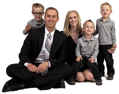 The Oxendale Family: Matt, Lindsay and their three boys Connor, Micah and Ethan
