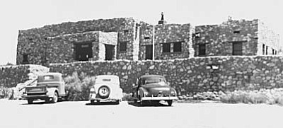 The new Tuzigoot Museum and Visitor Center in the 1930s. The site was established as a national monument on July 25, 1939, by President Franklin D. Roosevelt after extensive community collaboration and support. (NPS Image)