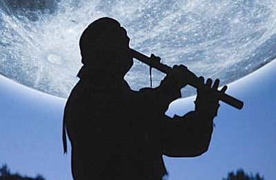Full Moon Flute Concert at Montezuma Castle<br /><br /><!-- 1upcrlf2 -->Aug. 9<br /><br /><!-- 1upcrlf2 -->Native American artist Wolfs Robe will be playing music by moonlight at Montezuma Castle National Monument on Saturday. Wolfs Robe is committed to the preservation of the Native American flute as well as his own ancestral connections. His work has been credited with helping sustain the art of traditional flute music.<br /><br /><!-- 1upcrlf2 -->Park gates will open at 7 p.m. The 45-minute concert begins at 8 p.m. and the early-rising moon is expected to illuminate the cliffs all evening. Visitors are encouraged to bring chairs and flashlights. There is no charge for admission or for the concert. For additional information, call the Montezuma Castle visitor center at (928) 567-3322, ext. 0.