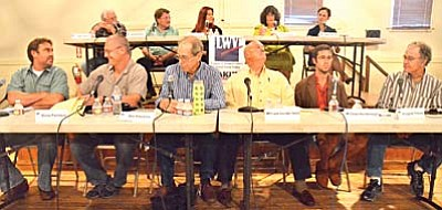 "The candidates running for Jerome Town Council are Christina ""Alex"" Barber, Anne Bassett, Nikki Check, Lew Currier, Douglas Freund, ""Rad"" Chad Hembrough, Randall Hunt, Bill Phinney, Steve Pontious, Abe Stewart and Frank Vander Horst. VVN/Vyto Starinskas"