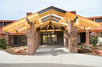 Northern Arizona Hospice features 10 private rooms, each with its own bathroom and outdoor patio.