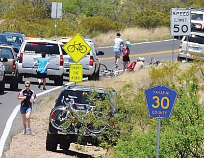 Lynn Hartline, a 48-year-old Gilbert bicyclist who was an entrant in the MS Ride the Vortex bicycle run in the Verde Valley May 17, was killed during the event by a passing motorist. VVN file photo