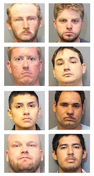 From left to right, top to bottom, Donald Eden, David Flint, Sean Holden, Michael Metzner, Israel Rodriguez, Isaac Turincio-Villegas, Walter Christoper and Martin Zazueta-Suarez.