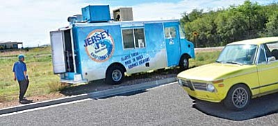 "Chef Jason Marchese opens up Jersey J's Food Truck near the Cottonwood Airport Industrial Park on Tuesday morning where he is back serving his ""gourmet creations"" during lunch hours on Tuesday through Sunday. VVN/Vyto Starinskas"
