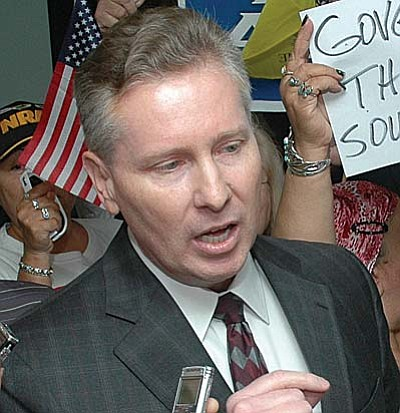 Former Maricopa County Attorney Andrew Thomas.  (Capitol Media Services file photo by Howard Fischer)
