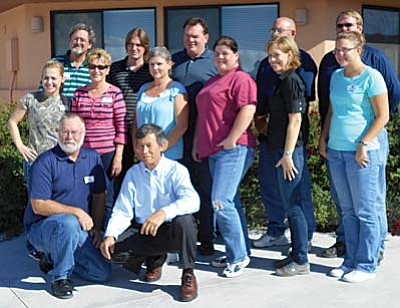 Class IX members shown left to right: Back row: Doug Braly, Matt McLean, Ed Dobosh, Eric Serene, Dave Williams Front row: Alicia Schneider, Sheila Sandusky, Erin Mabery, Kate Densmore, Tammy Yoakum , Amanda Wilber Kneeling: Greg Feltman, Class President; Al Filardo VVL is a comprehensive leadership program providing professional and personal growth and advancement opportunities. For more information about Verde Valley Leadership please visit www.vvleadership.org. Established in 2006, Verde Valley Leadership, Inc. is a 501©3 non-profit organization.