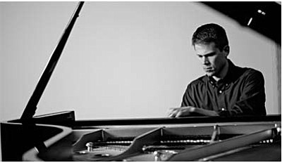 """Free concert at Yavapai College<br /><br /><!-- 1upcrlf2 -->Nov. 19<br /><br /><!-- 1upcrlf2 -->On Wednesday, Yavapai College's new adjunct faculty member Brian Lockard will perform a free concert entitled """"From Bach to Rock."""" The concert is being given to announce that Mr. Lockard will be teaching both Piano and Music Appreciation at the Verde Valley campus in spring of 2015. The performance will take place at 7 p.m. in room 137 of building M, on a Steinway concert-grand currently on loan from the Verde Valley Concert Association. With a lively program touching on classical, popular, film and folk music, the concert will include guest performers Dr. Stephen Dunn - trumpet, Edward Altherr - French horn and Staci Dickens – soprano."""