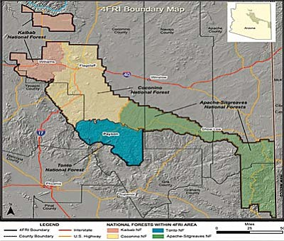 The full scope of the Four Forest Restoration Initiative.