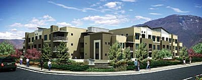 The 60-unit Highlands Square Senior Apartment project is expected to finally get underway in the New Year after it was included among qualifying tax credit programs of the Arizona Department of Housing for 2014. Courtesy Cambell-Hogue