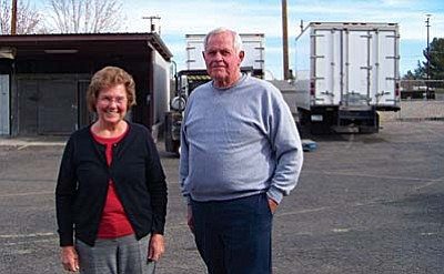 Ruth Cheneweth and John Ask of the Central AZ Food Bank. VVN/Jon Hutchinson