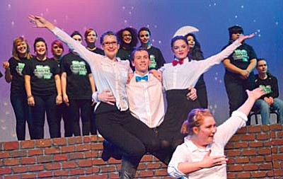 Mingus Union High School students rehearse Modern Broadway in a full dress/run through for parents on Wednesday night. VVN/Vyto Starinskas
