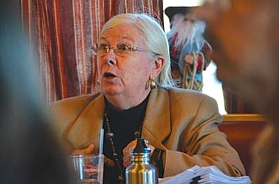 Resident Karen Daniels was at the meeting Tuesday, and talked about research studies she's submitted to the Federal Communications Commission that show negative effects of the type of radio waves cell towers transmit. She said sensitive receptors, or individuals with fragile immune systems like children, the sick and the elderly, are especially at risk. VVN/Vyto Starinskas<br /><br /><!-- 1upcrlf2 -->