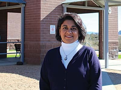 Dr. Yamini Goswami, public health medical director of Yavapai County Community Health Services, said families with higher incomes and children in charter or private schools have higher personal-beliefs exemption rates than any other demographic group in Yavapai County. (Cronkite News Photo by Samantha Incorvaia)