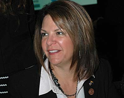 Sen. Kelli Ward, R-Lake Havasu City is pushing legislation to largely strip state schools chief Diane Douglas of much of her control over employees of the Board of Education.