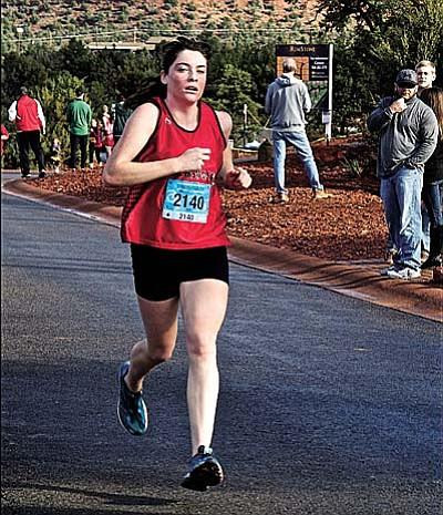 Penny Fenn competes in the Sedona Marathon 10K. Courtesy photo