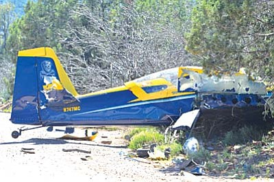 The cause of the crash is under review. The plane had flown from Chandler to Prescott earlier and was in the process of flying to the Sedona Airport when it went down. The plane has since been removed from the crash site. VVN/Vyto Starinskas