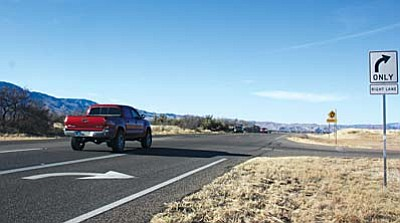 While five of the roundabouts have distinct side roads connected to them, two more do not have existing side roads. Those connected intersections include Thousand Trails, Coury Drive, Cherry Creek Road, Horseshoe Bend, Park Verde Road and Wilshire Road.VVN file photo