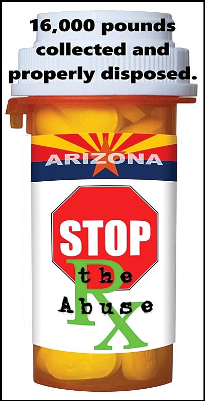"Dump the Drugs Event April 25 at seven locations<br /><br /><!-- 1upcrlf2 -->A Dump the Drugs event will be held on Saturday, April 25, at seven locations countywide, including: Prescott, Prescott Valley, Chino Valley, Cottonwood, Sedona, Camp Verde and Clarkdale.  MATFORCE and area law enforcement are sponsoring the event to help reduce prescription drug abuse by gathering and safely disposing of unwanted prescription and over-the-counter medication.<br /><br /><!-- 1upcrlf2 -->In 2011, MATFORCE made reducing prescription drug abuse its top priority. In 2012, Yavapai County was chosen by the Governor's Office to serve as the first site in the state to implement the Arizona Prescription Drug Misuse and Abuse Reduction Initiative.  This community health project brought law enforcement, community leaders and concerned citizens together under MATFORCE's leadership.<br /><br /><!-- 1upcrlf2 -->To date over 16,000 pounds of unwanted medication has been collected at Dump the Drug events and at ten law enforcement drop boxes.  Properly disposing of unwanted medication has kept potentially dangerous drugs from getting into the wrong hands. Safe disposal also keeps medications from getting into our water systems. <br /><br /><!-- 1upcrlf2 -->Sheila Polk, Yavapai County Attorney and MATFORCE Co-chair, said, ""Those who bring unwanted medications to Dump the Drugs events are directly helping to reduce substance abuse in our communities.  We have seen the successful results. Prescription drug abuse among youth is down by 36.8% since 2012, according to the most recent Arizona Youth Survey.  Also, we have seen a 300% decrease in overdose deaths since 2011.""<br /><br /><!-- 1upcrlf2 -->In the greater Prescott area, prescription and over-the-counter medications can be dropped off between 10:00 AM and 2:00 PM at the following locations:  Prescott Police Department, 222 S. Marina; Prescott Valley Police Department, 7601 E. Civic Circle; and the Chino Valley Police Department, 1950 Voss Drive.<br /><br /><!-- 1upcrlf2 -->In the Verde Valley, prescription and over-the-counter medications can be dropped off between 10 a.m. and 2 p.m. at the following locations:  Sedona Police Department at 100 Roadrunner Drive; Cottonwood Police Department, 199 S. 6th Street;  the Camp Verde Marshal's Office at 646 S. First Street; and the Clarkdale Police Department at 49 N. Ninth Street.<br /><br /><!-- 1upcrlf2 -->MATFORCE encourages everyone to look through their medicine cabinet for expired or unwanted medication and bring it to one of the drop-off locations.  For more information call 928-708-0100 or visit the MATFORCE website at matforce.org."