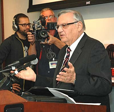 Maricopa County Sheriff Joe Arpaio  (Capitol Media Services file photo by Howard Fischer)
