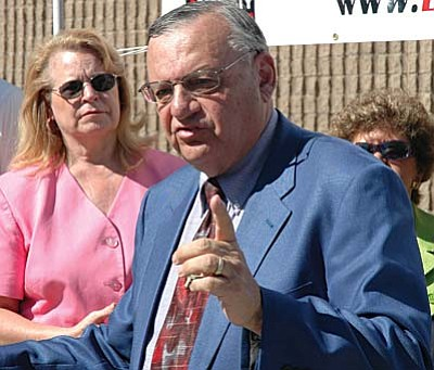 Sheriff Joe Arpaio, pictured, faces new legal hurdles as the lawyer representing him in two other immigration-related cases quits.
