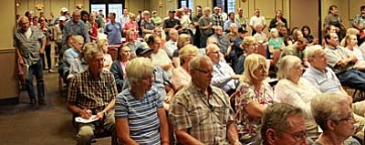 """This is probably the biggest showing we have had for a public meeting since the meeting about loop 202 down in Phoenix,"" said ADOT Public Information Officer Dustin Krugel. <br /><br /><!-- 1upcrlf2 -->"