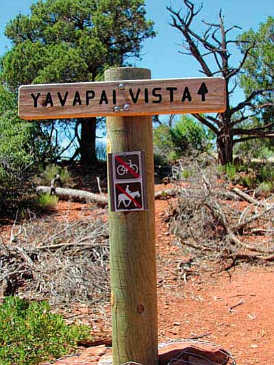 Yavapai Vista trails are well signed.