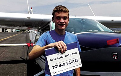 16-year-old Tyler Lewis of Cottonwood has been accepted to attend the Experimental Aircraft Association's Advanced Air Academy 2015.