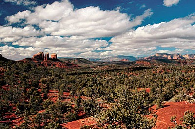 The proposed Sedona Verde Valley Red Rocks National Monument, with 160,000 acres of National Forest surrounds Sedona and the Village of Oak Creek and would include Bell Rock and Courthouse Butte. Photo by Beverly Copen