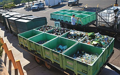 The recycling containers at Walmart will be removed with several other containers, according to a statement from the City of Cottonwood. VVN/Vyto Starinskas