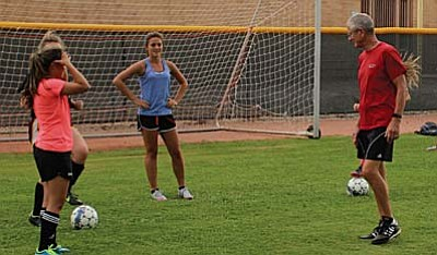 The Camp Verde girls soccer team has been getting back onto the field with two-a-days this week after a three day mini-camp last week. The Lady Cowboys start off their season on September 2 against Holbrook. VVN Photo by Greg Macafee