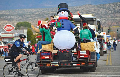 The 61st annual Cottonwood Christmas Parade will begin its march Saturday at 11 a.m.