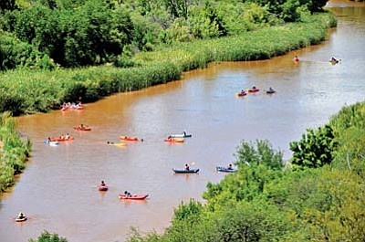 Recreational use of the Verde River drew heated debate last year. Some Clarkdale residents asked for restrictions, complaining of noise and littering, particularly from tubers. Others, such as watercraft users and commercial guides, sought continued access. (VVN/Vyto Starinskas)