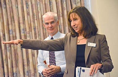 Mingus Union High School District Superintendent Dr. Paul Tighe and Cottonwood-Oak Creek Superintendent Barbara U'Ren look forward to school enhancements in 2016. (VVN file photo)